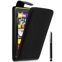 Nokia Lumia 1320: Accessoire Etui Housse Coque Pochette simili cuir + Stylet - NOIR