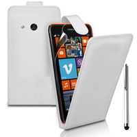 Nokia Lumia 625: Accessoire Etui Housse Coque Pochette simili cuir + Stylet - BLANC