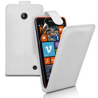 Nokia Lumia 630/ 635/ 638: Accessoire Etui Housse Coque Pochette simili cuir - BLANC