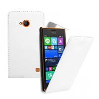Nokia Lumia 735/ 730 Dual Sim: Accessoire Etui Housse Coque Pochette simili cuir - BLANC