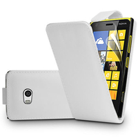 Nokia Lumia 930: Accessoire Etui Housse Coque Pochette simili cuir - BLANC
