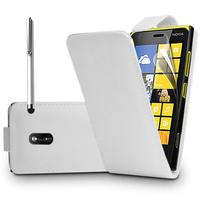 Nokia Lumia 930: Accessoire Etui Housse Coque Pochette simili cuir + Stylet - BLANC
