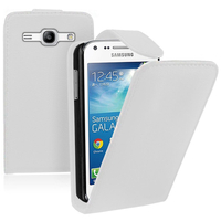 Samsung Galaxy Core Plus G3500/ Trend 3 G3502: Accessoire Etui Housse Coque Pochette simili cuir - BLANC