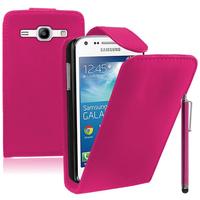 Samsung Galaxy Core Plus G3500/ Trend 3 G3502: Accessoire Etui Housse Coque Pochette simili cuir + Stylet - ROSE