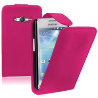 Samsung Galaxy Ace 4 Style LTE SM-G357FZ: Accessoire Etui Housse Coque Pochette simili cuir - ROSE