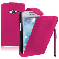 Samsung Galaxy Ace 4 Style LTE SM-G357FZ: Accessoire Etui Housse Coque Pochette simili cuir + Stylet - ROSE