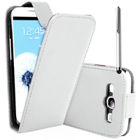 Samsung Galaxy Grand 2 SM-G7100 SM-G7102 SM-G7105 SM-G7106: Accessoire Etui Housse Coque Pochette simili cuir + Stylet - BLANC