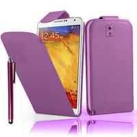 Samsung Galaxy Note 3 N9000/ N9002/ N9005/ N9006: Accessoire Etui Housse Coque Pochette simili cuir + Stylet - VIOLET