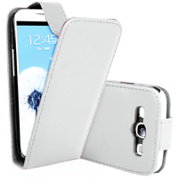 Samsung Galaxy S3 i9300/ i9305 Neo/ LTE 4G: Accessoire Etui Housse Coque Pochette simili cuir - BLANC