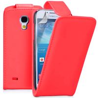 Samsung Galaxy S4 mini i9190/ S4 mini plus I9195I/ i9192/ i9195/ i9197: Accessoire Etui Housse Coque Pochette simili cuir - ROUGE