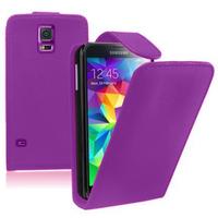 Samsung Galaxy S5 V G900F G900IKSMATW LTE G901F/ Duos / S5 Plus/ S5 Neo SM-G903F/ S5 LTE-A G906S: Accessoire Etui Housse Coque Pochette simili cuir - VIOLET