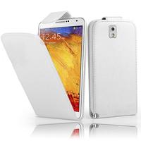 Samsung Galaxy Note 3 N9000/ N9002/ N9005/ N9006: Accessoire Etui Housse Coque Pochette simili cuir - BLANC