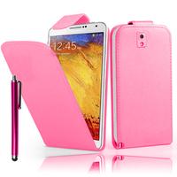 Samsung Galaxy Note 3 N9000/ N9002/ N9005/ N9006: Accessoire Etui Housse Coque Pochette simili cuir + Stylet - ROSE