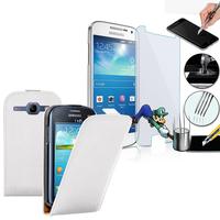 Samsung Galaxy Grand 2 SM-G7100 SM-G7102 SM-G7105 SM-G7106: Etui Coque Housse Pochette Accessoires cuir slim ultra fine + 1 Film de protection d'écran Verre Trempé - BLANC