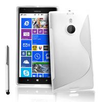 Nokia Lumia 1520: Accessoire Housse Etui Pochette Coque S silicone gel + Stylet - BLANC