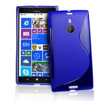 Nokia Lumia 1520: Accessoire Housse Etui Pochette Coque S silicone gel - BLEU