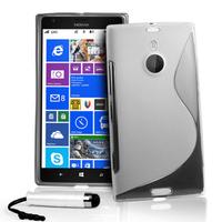 Nokia Lumia 1520: Accessoire Housse Etui Pochette Coque S silicone gel + mini Stylet - TRANSPARENT
