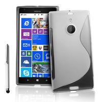 Nokia Lumia 1520: Accessoire Housse Etui Pochette Coque S silicone gel + Stylet - TRANSPARENT
