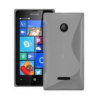 Microsoft Nokia Lumia 435/ 435 Dual SIM: Accessoire Housse Etui Pochette Coque S silicone gel - TRANSPARENT