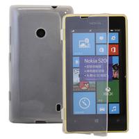 Nokia Lumia 520/ 525: Accessoire Coque Etui Housse Pochette silicone gel Portefeuille Livre rabat - TRANSPARENT