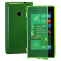 Nokia Lumia 520/ 525: Accessoire Coque Etui Housse Pochette silicone gel Portefeuille Livre rabat - VERT