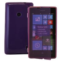 Nokia Lumia 520/ 525: Accessoire Coque Etui Housse Pochette silicone gel Portefeuille Livre rabat - VIOLET