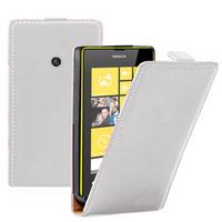 Nokia Lumia 520/ 525: Accessoire Housse coque etui cuir fine slim - BLANC