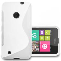 Nokia Lumia 530/ 530 Dual Sim: Accessoire Housse Etui Pochette Coque S silicone gel - BLANC