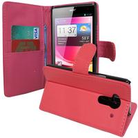 Acer Liquid Z5 Duos: Accessoire Etui portefeuille Livre Housse Coque Pochette support vidéo cuir PU - ROSE