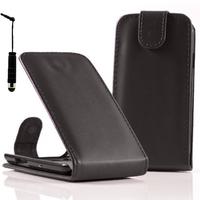Acer Liquid Z5 Duos: Accessoire Etui Housse Coque Pochette simili cuir + mini Stylet - NOIR