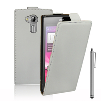 Acer Liquid Z5 Duos: Accessoire Housse coque etui cuir fine slim + Stylet - BLANC