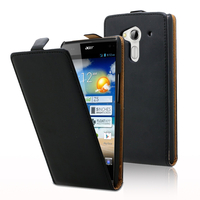 Acer Liquid Z5 Duos: Accessoire Housse coque etui cuir fine slim - NOIR