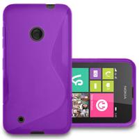 Nokia Lumia 530/ 530 Dual Sim: Accessoire Housse Etui Pochette Coque S silicone gel - VIOLET