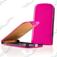 Alcatel Idol 2 S 6050Y/ 6050A/ 6050F/ Alcatel Idol 2: Accessoire Housse coque etui cuir fine slim - ROSE