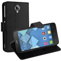Alcatel Idol 2 Mini S 6036Y/ 6036A/ 6036X: Accessoire Etui portefeuille Livre Housse Coque Pochette support vidéo cuir PU - NOIR