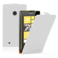 Nokia Lumia 530/ 530 Dual Sim: Accessoire Housse coque etui cuir fine slim - BLANC