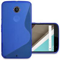 Motorola Nexus 6/ Nexus X: Accessoire Housse Etui Pochette Coque S silicone gel - BLEU