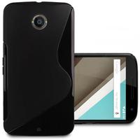 Motorola Nexus 6/ Nexus X: Accessoire Housse Etui Pochette Coque S silicone gel - NOIR