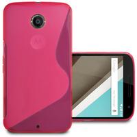 Motorola Nexus 6/ Nexus X: Accessoire Housse Etui Pochette Coque S silicone gel - ROSE