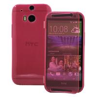HTC One (M8)/ One M8s/ Dual Sim/ (M8) Eye/ M8 For Windows/ HTC Butterfly 2: Accessoire Coque Etui Housse Pochette silicone gel Portefeuille Livre rabat - ROSE