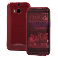 HTC One (M8)/ One M8s/ Dual Sim/ (M8) Eye/ M8 For Windows/ HTC Butterfly 2: Accessoire Coque Etui Housse Pochette silicone gel Portefeuille Livre rabat - ROUGE