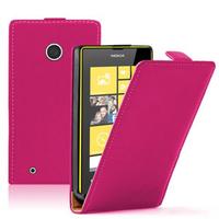Nokia Lumia 530/ 530 Dual Sim: Accessoire Housse coque etui cuir fine slim - ROSE