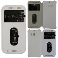 HTC One (M8)/ One M8s/ Dual Sim/ (M8) Eye/ M8 For Windows/ HTC Butterfly 2: Accessoire Coque Etui Housse Pochette Plastique View Case - BLANC