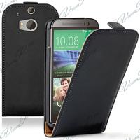 HTC One (M8)/ One M8s/ Dual Sim/ (M8) Eye/ M8 For Windows/ HTC Butterfly 2: Accessoire Housse coque etui cuir fine slim - NOIR