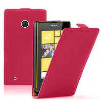 Nokia Lumia 530/ 530 Dual Sim: Accessoire Housse coque etui cuir fine slim - ROUGE