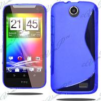 HTC Desire 310: Accessoire Housse Etui Pochette Coque S silicone gel - BLEU