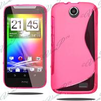 HTC Desire 310: Accessoire Housse Etui Pochette Coque S silicone gel - ROSE