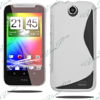 HTC Desire 310: Accessoire Housse Etui Pochette Coque S silicone gel - TRANSPARENT