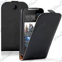 HTC Desire 310: Accessoire Housse coque etui cuir fine slim - NOIR