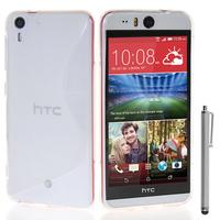 HTC Desire Eye: Accessoire Housse Etui Pochette Coque S silicone gel + Stylet - TRANSPARENT